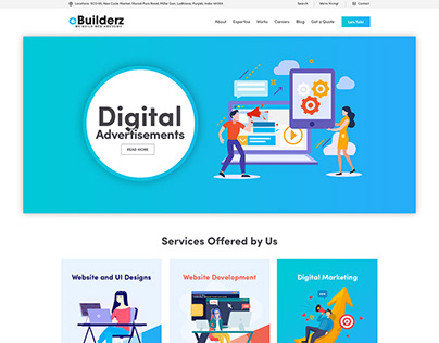 eBuilderz - New Home Page Redesign