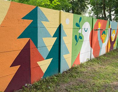 Peace mural