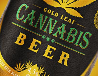 Gold Leaf brand - Cannabis beer