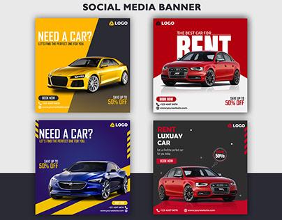 Social Media Banner - Need A Car Ads design