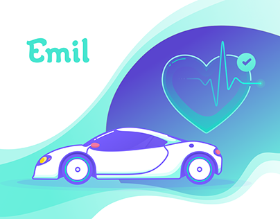 Branding/Illustration/UI/UX Emil - Insurance