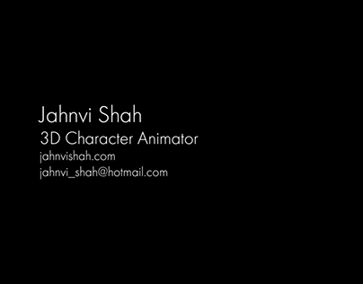 3D Character Animation Showreel