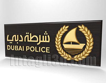 3D-model of emblemof Dubai city Police