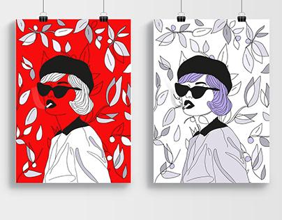 textile illustration design