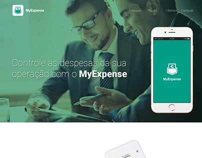 MyExpense - One Page Site - Layout