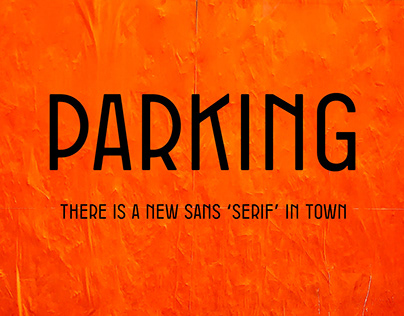 PARKING Display Font
