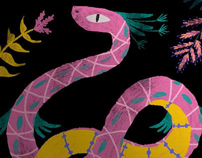Jungle Spirit Illustration and Temporary Tattoo Set
