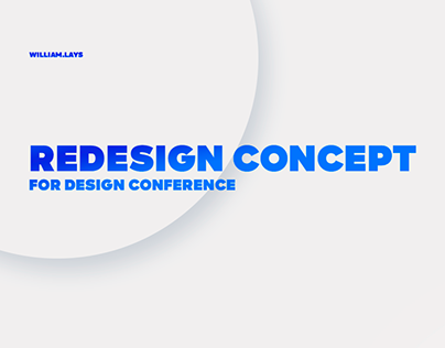 Redesign concept for design conference