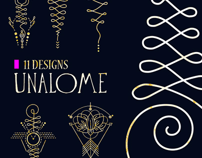 Unalome & lotus Sacred symbols