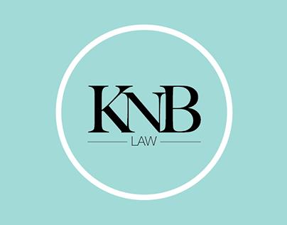 KNB law brand design