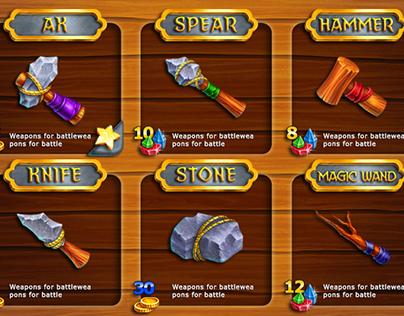 Shop interface