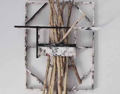 Rami white (wall sculpture)