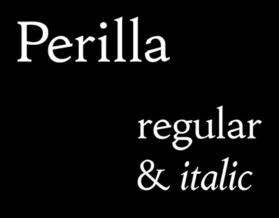 Perilla Typeface