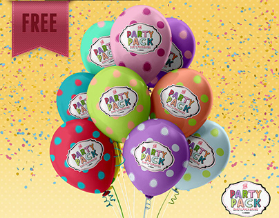 FREE Party Pack Sample Mock Up Template