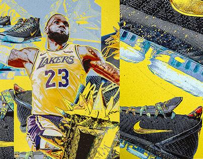 "Nike LeBron 16 ""Watch the Throne"" Release Artwork"