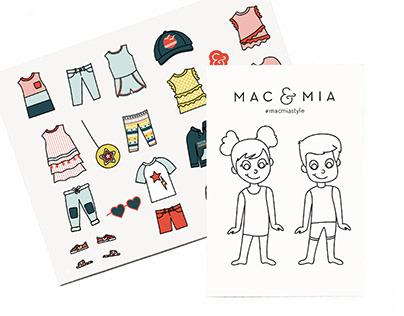 Mac & Mia Paper Doll Design