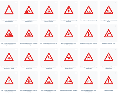 Road signs warning safety global standard high reso