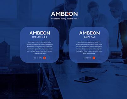Ambeon Landing & Website page developments