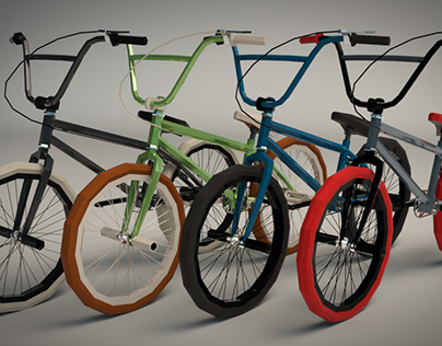 Low Poly BMX Bike
