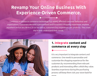 Revamp Your Online Business With Experience Driven Comm