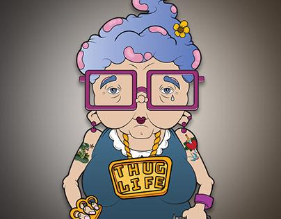 Thug Life Granny