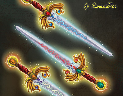 Magic swords for Disney Company book
