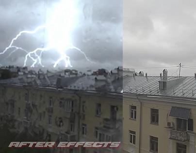 Making VFX Lighning, rainfall, raindrops