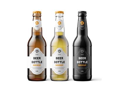35+ Ultra-Realistic Beer Bottle Mockup Templates