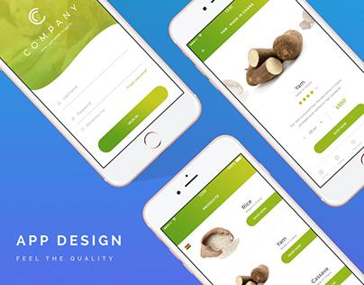 App Design |  Food Ordering Mobile Commerce Platform