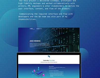 AXS Blockchain Website- UI & UX