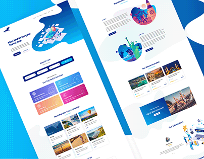 Tours & Travel Agency Worldwide Services | UI Design