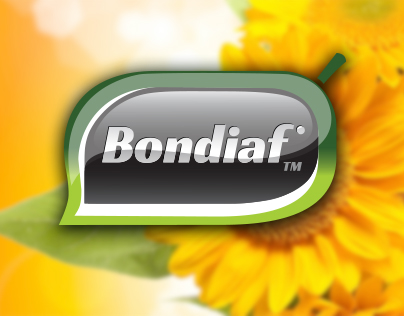 "Logotype and package for sunflower seeds ""Bondiaf"""