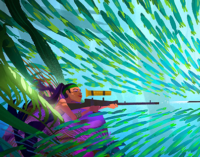 Sniper mermaid