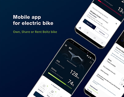 UI/UX   Mobile App for Electric Bike