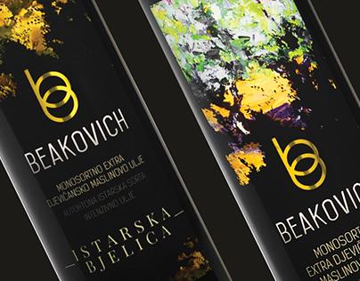Beakovich // Olive oil packaging