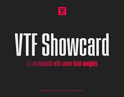 VTF Showcard Typeface