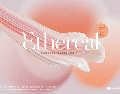 Ethereal Grainy Gradient Backgrounds