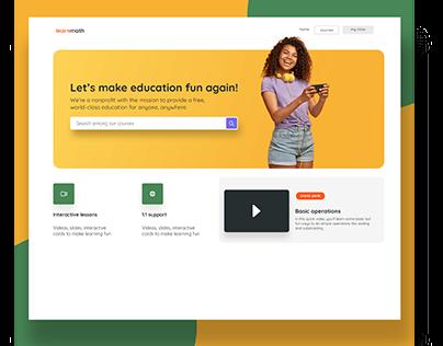 Landing Page || Concept Design
