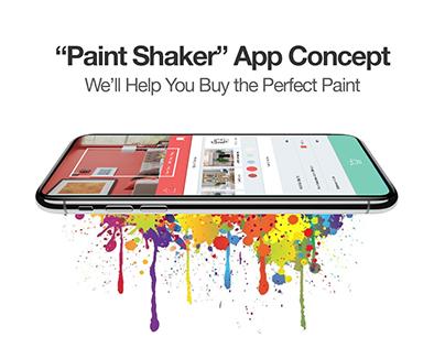 "Paint App - ""Paint Shaker"" - 1 Day Design Sprint"