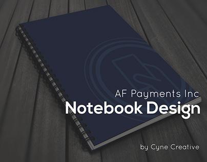 AF Payments Inc. Notebook Design