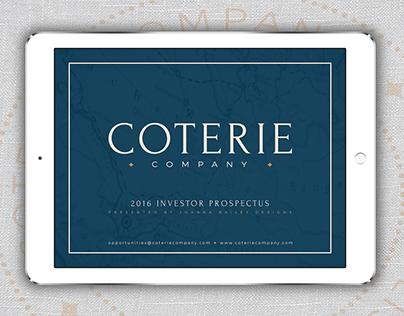 Coterie Company: Investor Prospectus