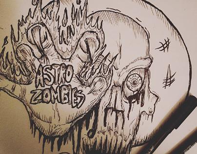 astro zombies- misfits tribute art