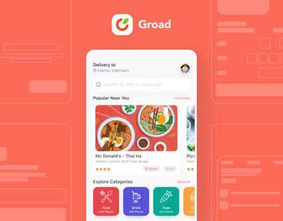 Groad - Food Ordering System - UI/UX Case Study