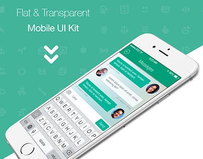 Flat Mobile App UI Kit