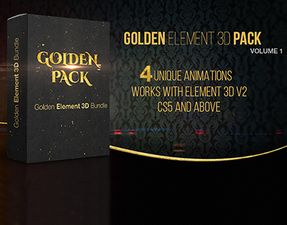 Golden Pack 4 Free After Effects Templates