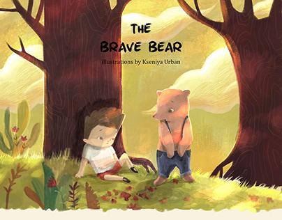 The brave Bear. CHILDREN BOOK ILLUSTRATIONS.