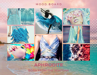 Mood boards inspired from sea.