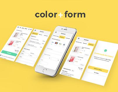 Color + Form  Responsive Website