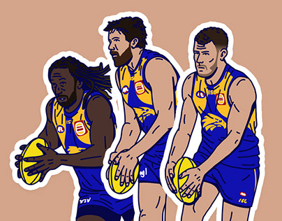 AFL Player Illustrations