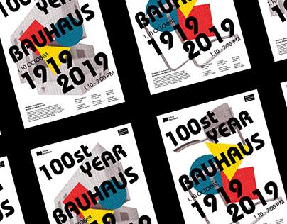 BAUHAUS 100st Year Poster